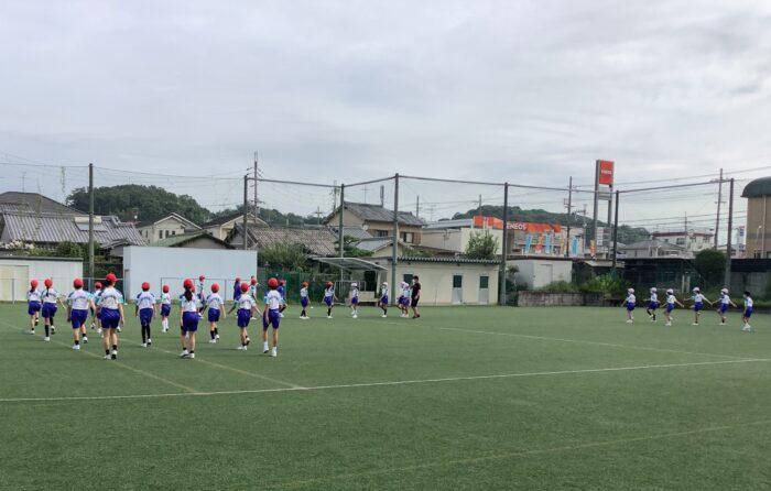 運動会の練習が始まりました。