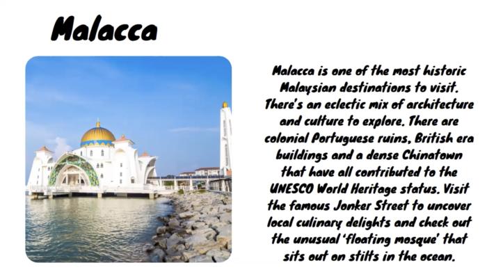 【SOJ】マレーシアの素晴らしい10個の場所について学びました!